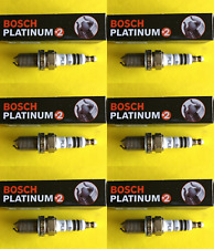 New SET OF 6 BOSCH Platinum+2 Spark Plugs - 4312 Made in Germany