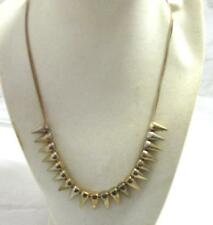 """19-23"""" Spike Necklace  Gold Tone Metal on 2 Gold Tone Chains  Lobster Clasp"""