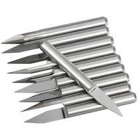 10 pcs 0.3mm 30º Wolfram Stahl  CNC Gravierstichel Messer GY N1W6 H5Y3 F7U6