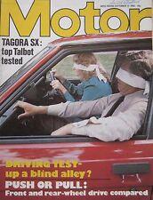 Motor magazine 11/9/1982 featuring Talbot Tagora road test