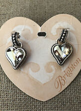 Brighton Bibi Heart Gem Crystal Earrings REVERSIBLE NEW NWT