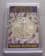 2017 American Eagle Silver Dollar & Happy Birthday Case #1