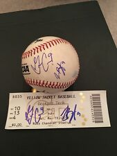 Joey Bart/ Griffin Conine Auto Signed Game Used NCAA Baseball + Tix Stub.