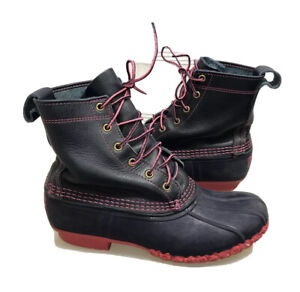 LIMITED LL BEAN Classic Women's Leather RARE BLUE PINK Duck Boots Size 9