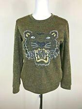 Kenzo Paris Embroidered Tiger Sweatshirt Black With Gold TWomen's M