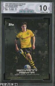 2020 Topps Borussia Dortmund Soccer #15 Giovanni Reyna BYCC 10