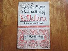RICCARDO WAGNER L'ANELLO DEL NIBELUNGO LA WALKIRIA ZANARDINI LIBRO BOOK NO LP