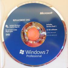 Genuine Microsoft Windows 7 Professional 32-bit Replacement Disc with SP1