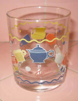 Fiesta Ware Homer Laughlin Small Juice Glass Dinnerware Decals Glassware