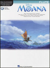 Disney Moana Instrumental Play-Along for Flute Sheet Music Book with Audio