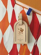 Authentic Louis Vuitton Hawaii Plumeria Stamped Vachetta Large Luggage Tag New