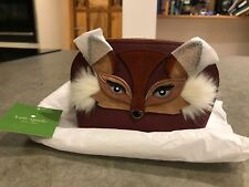 REDUCED PRICE NEW KATE SPADE SO FOXY Abalene Red Make Up FOX Bag Leather RRP£115