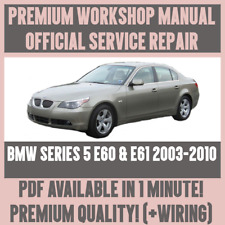 *WORKSHOP MANUAL SERVICE & REPAIR GUIDE for BMW E60 & E61 2003-2010 +WIRING