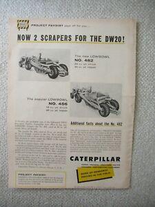 1958 CAT Caterpillar 482 456 scraper print AD