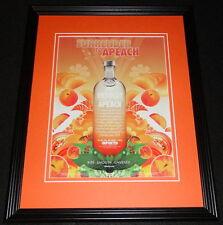 2005 Absolut Apeach Vodka Framed 11x14 ORIGINAL Advertisement