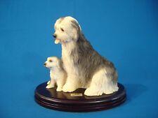 Vintage Large Nico English Sheepdog And Puppy Figurine - Spain