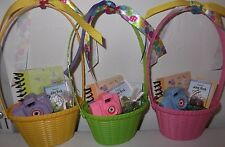 "Custom Easter Basket Sized for 18"" Dolls w Journal Choc Bunny Fits Kit Luciana"