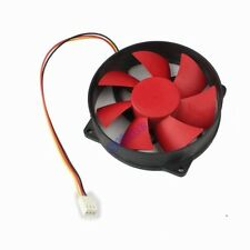 New 93mm x 25mm 12V 3Pin Round Red Blade Computer PC CPU Cooling Fan