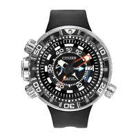 Citizen Eco-Drive Promaster Aqualand Depth Meter Analog Display Watch (Black)