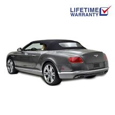 Bentley Continental GT Convertible Top & Glass Window Black Twillfast 2007-2017