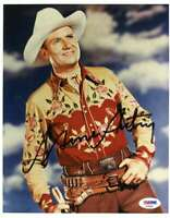 Gene Autry Psa Dna Coa Hand Signed 8x10 Photo Autograph