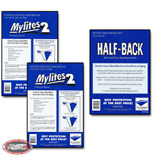 100 - E. GERBER HALF-BACK & MYLITES 2 SILVER & GOLDEN AGE Mylar - 750HB/775M2