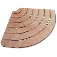 Pedana doccia antiscivolo in legno ad angolo 74x74 per box nicchia cabina doccia