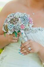 Brooch Bridal Bouquet Rhinestone and Pearl
