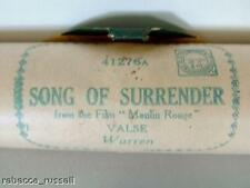 Pianola 1276A Song of Surrender Moulin Rouge V Warren