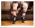 "Ken DANBY "" Lacing Up "" art print Hockey NHL Slugger Large Best Quality ! photo"