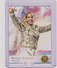 2012 TOPPS OLYMPIC MARIEL ZAGUNIS FENCING GOLD CARD #32 ~ MULTIPLES