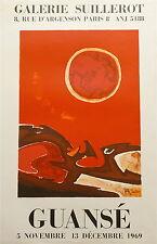 Antonio Guansé affiche litho 1969 galerie Suillerot Espagne France p 557
