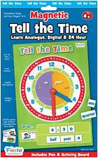 Childrens Learn to Tell The Time Magnetic Clock Game - 18cm X 25cm 58pcs