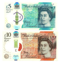 England  5 + 10 Pounds  2015, 2016  P. 394, 395  Polymer  AU