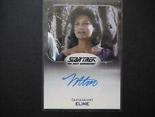 Star Trek NEXT GENERATION Trading Cards Margot Rose as ELINE Autograph