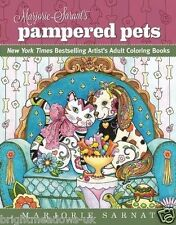 Pampered Pets Dogs Cats Animals Adult Colouring Book Creative Art Therapy Relax