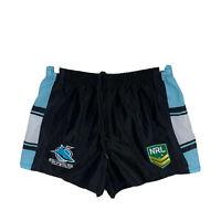 Cronulla Sharks NRL Mens Jersey Shorts Size XL Elastic Waist Drawstring