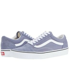 "NEW""Men's Vans Old Skool Canvas Sneaker Blue Granite/True White Mens 9.5 Wmns 11"