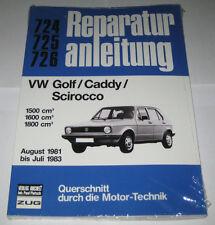 Reparaturanleitung VW Golf I 1 + Caddy 14 D + Scirocco 53B, Baujahre 1981 - 1983