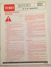 toro wheel horse 8 25 owners manual