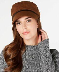 NINE WEST wool blend women's newsboy cap hat - Brown