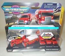 FIRE & RESCUE Micro Machines 5 Pack Mini Truck AMBULANCE LADDER CHIEF READ! 2020