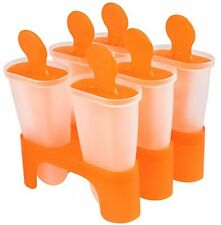 6 Cell DIY Pop Frozen Ice Cream Popsicle Maker Lolly Mould Pan Tray Mold Tools