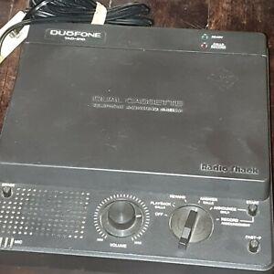 ORIGINAL RADIO SHACK TELEPHONE ANSWERING MACHINE - DUOFONE TAD-210 CAT 43-309A