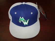 MINNESOTA TIMBERWOLVES  WOOL NEW ERA FITTED SZ 7 3/8   1990S VINTAGE HAT CAP