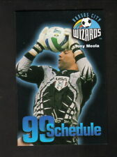 Tony Meola--Kansas City Wizards--1999 Pocket Schedule--Carondelet Health--MLS