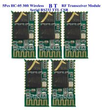 US 5Pcs HC-05 30ft Wireless B T RF Transceiver Module serial RS232 TTL CSR
