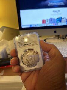 1914 China Silver Dollar Coin Yuan Shih Kai NGC Y-329 AU Details