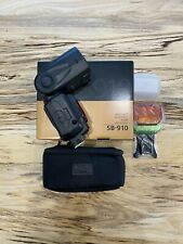 nikon sb-910 speedlight flash with box and all accessories
