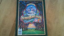 Super Bowl XXVIII Official Program (Georgia Dome) Cowboys vs Bills-Used